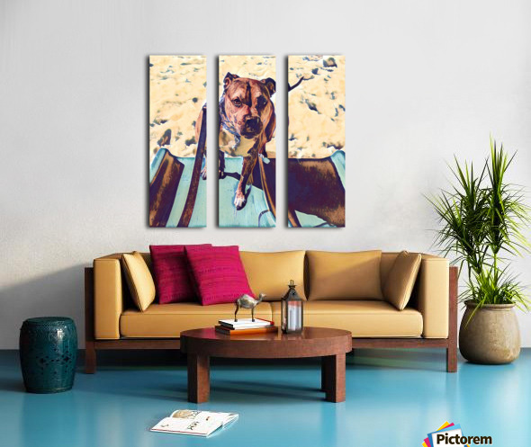 Dog Drawing (53) Split Canvas print