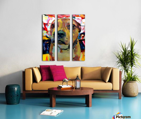 Dog Painting (5) Split Canvas print
