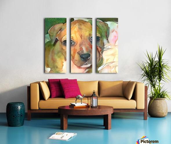Dog Painting (20) Split Canvas print