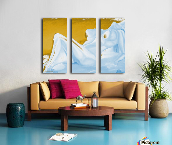 Ecstasy In Gold And Ice Split Canvas print