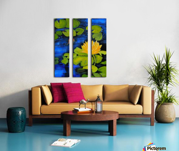 lily pond  Split Canvas print