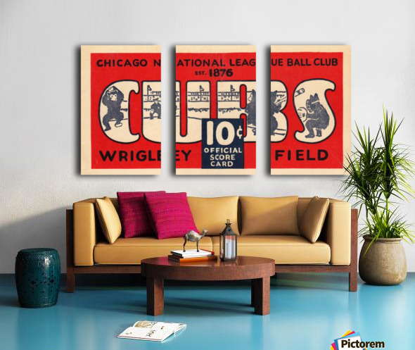1929 Chicago Cubs score card Split Canvas print