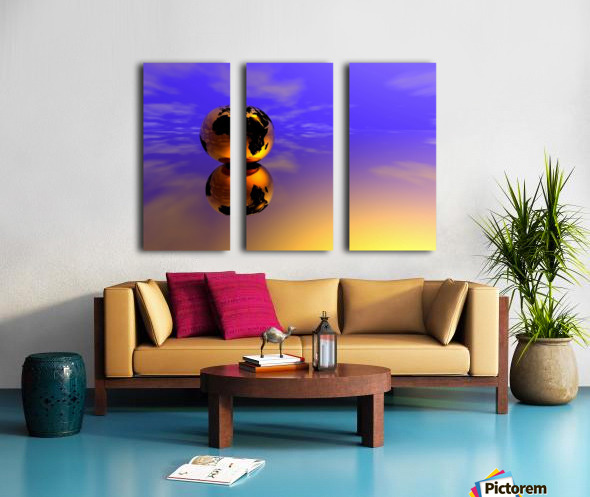 Golden Earth Split Canvas print