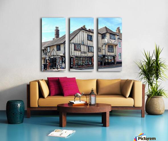 Ye Olde Bookshop Lewes front view Split Canvas print