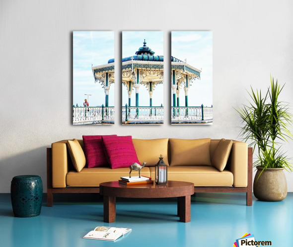 The Bandstand on Brighton Seafront Split Canvas print