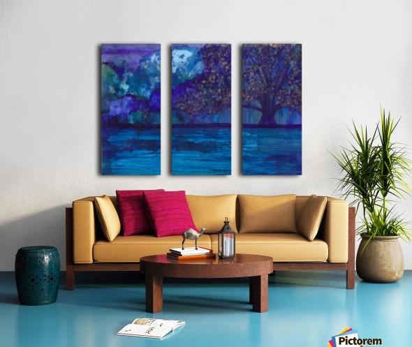 Lost in Purple Split Canvas print