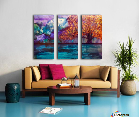 Lost in Purple v2 Split Canvas print