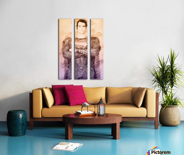 Superman Split Canvas print