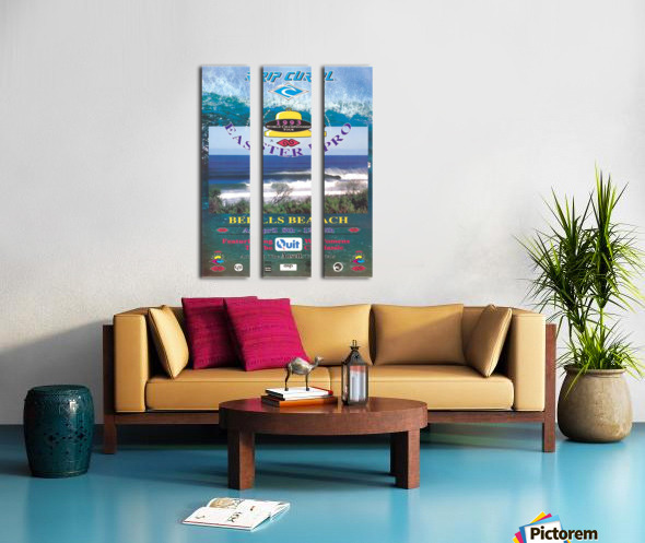 1993 RIP CURL BELLS BEACH EASTER Surfing Championship Competition Print - Surfing Poster Split Canvas print