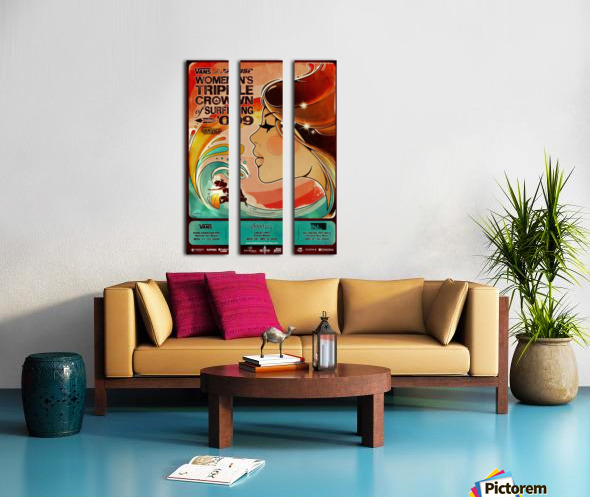 2009 Womens VANS TRIPLE CROWN OF SURFING Competition Poster Split Canvas print
