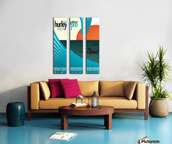 2012 HURLEY PRO TRESTLES Surf Competition Poster Split Canvas print