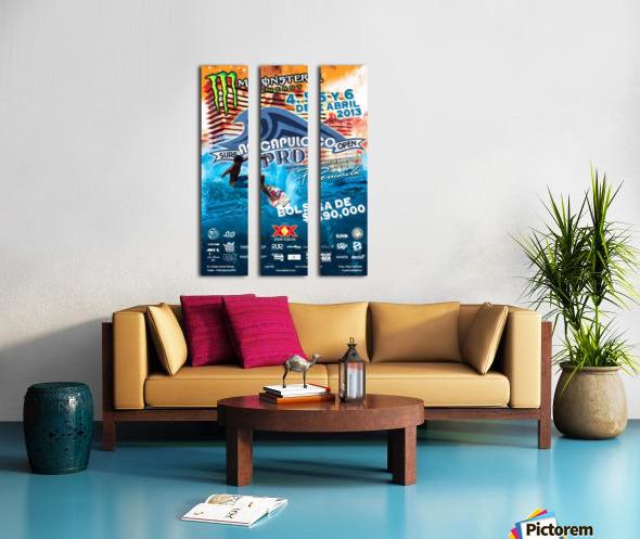 2013 ACAPULCO PRO Surf Competition Print Split Canvas print