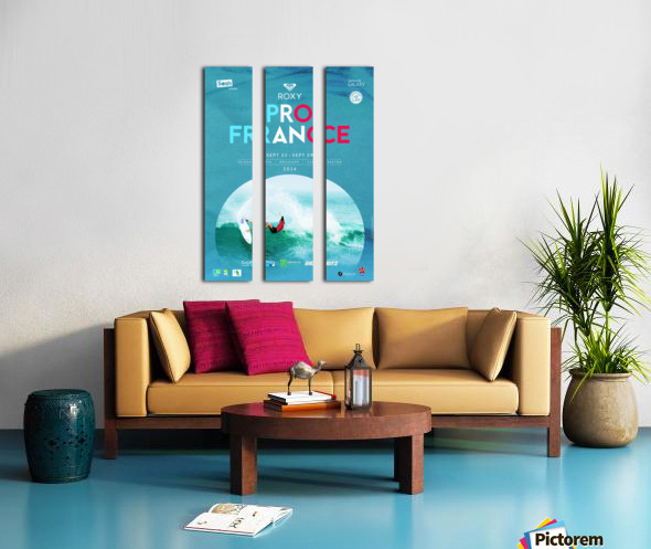 2014 ROXY PRO FRANCE Surfing Competition Poster Split Canvas print