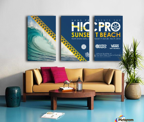 2016 VANS HIC PRO SUNSET BEACH Competition Print Split Canvas print