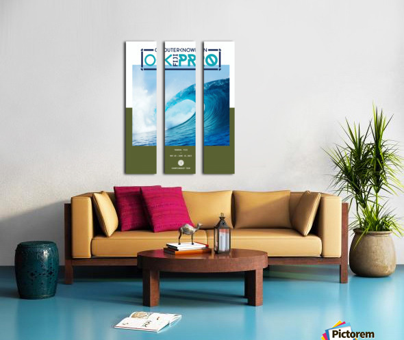 2017 OUTERKNOWN FIJI PRO Surf Competition Print Split Canvas print