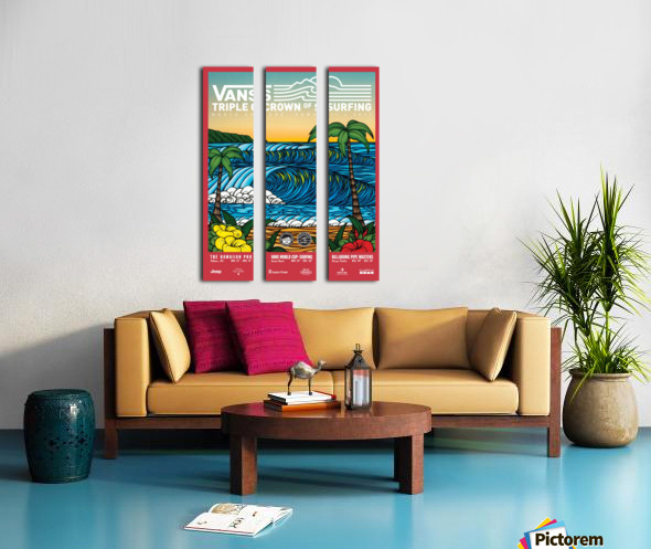 2017 VANS TRIPLE CROWN OF SURFING Competition Print Split Canvas print
