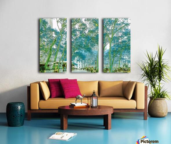 Bryant Park New York Split Canvas print
