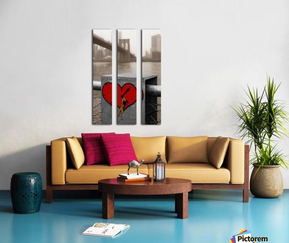 Fight - Peace - Love Split Canvas print