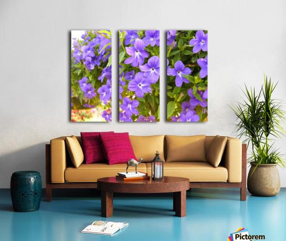 Purple Flowers Photograph Split Canvas print
