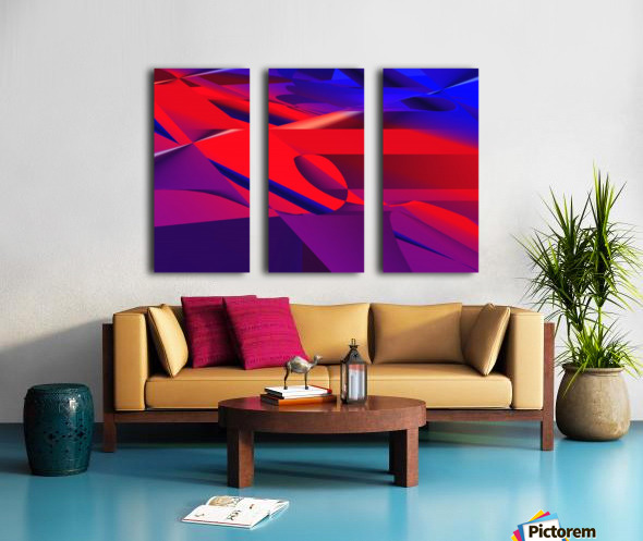 red and blue 0513a219 Split Canvas print