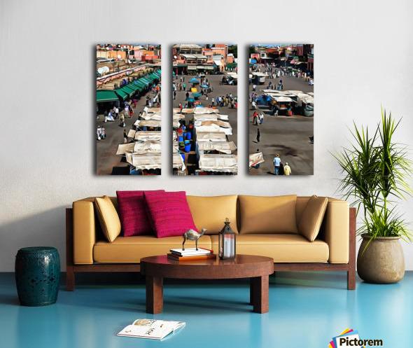 View Over Jemaa el Fnaa 1 Split Canvas print