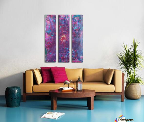 Exploding Sun1  Split Canvas print