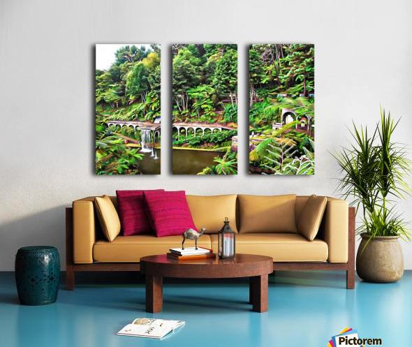 Jardim Tropical Monte Palace 5 Split Canvas print