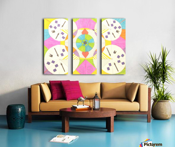 Wheels of Abstraction Split Canvas print