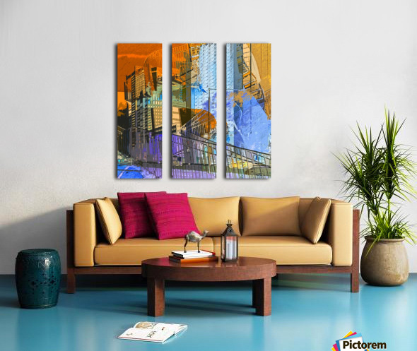 Montréal Split Canvas print