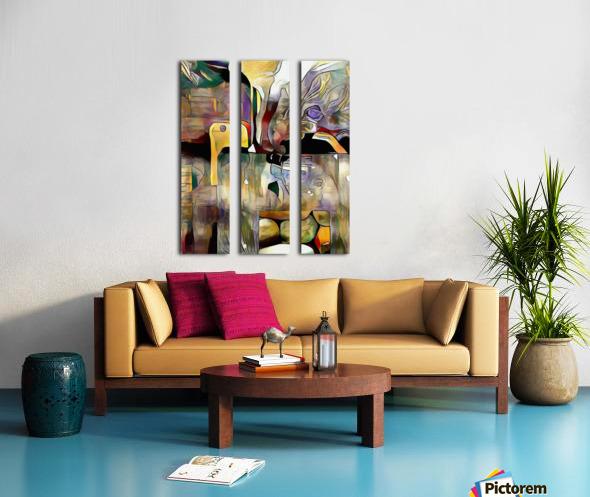 Modern Abstract Split Canvas print