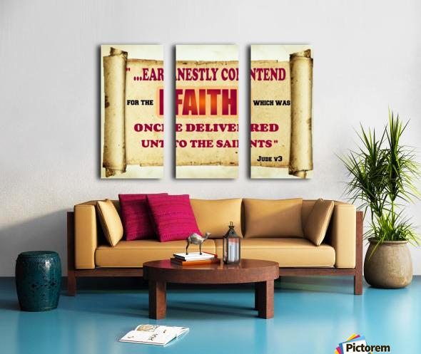 Earnestly contend for the faith Split Canvas print