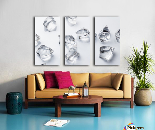 Crystals on the white background Split Canvas print