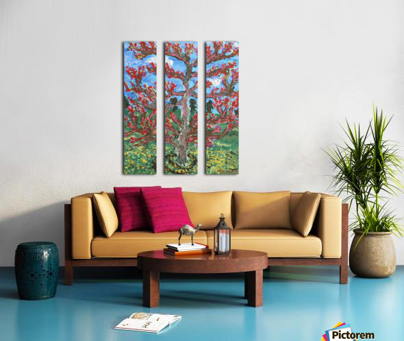 Cherry tree Split Canvas print