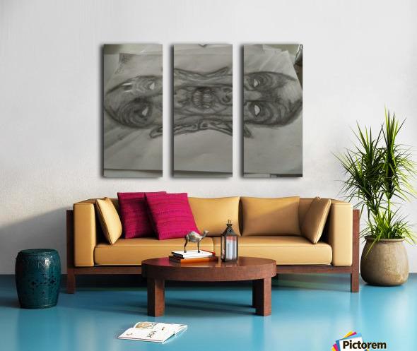 2faced Split Canvas print