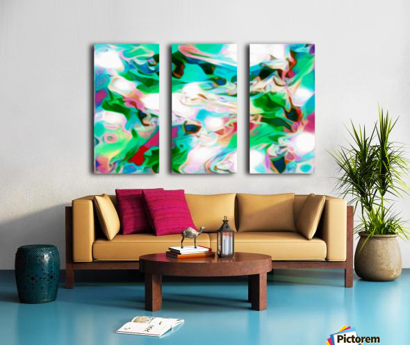 Waterfall - multicolor abstract swirls Split Canvas print