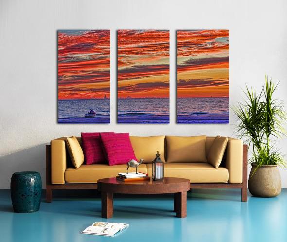Tropical Gulf Nights Split Canvas print