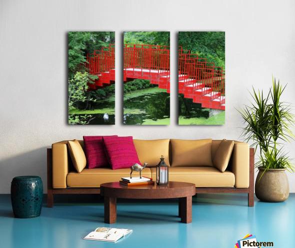 Dow Gardens Red Footbridge 062618 Split Canvas print