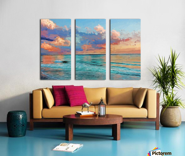 Seascape Serenade Split Canvas print