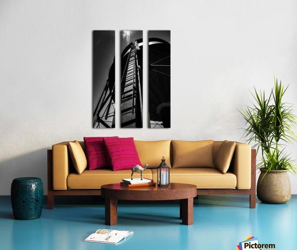 Water Tower BnW Split Canvas print