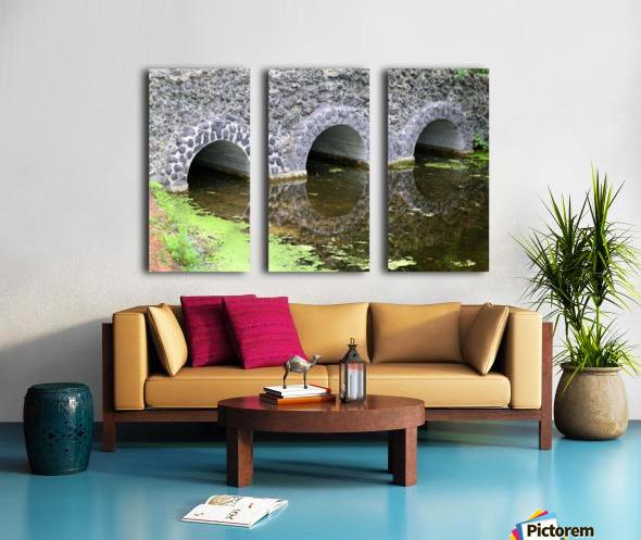 Stone Bridge and Reflection 4 Dow Gardens 3 062618 Split Canvas print