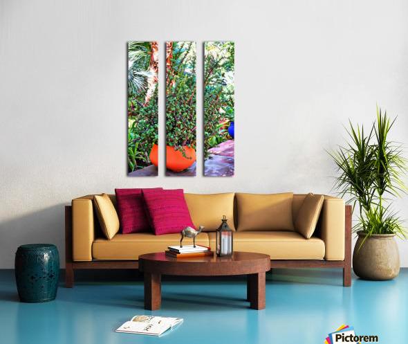 Colorful Plant Pots Marrakesh 10 Split Canvas print