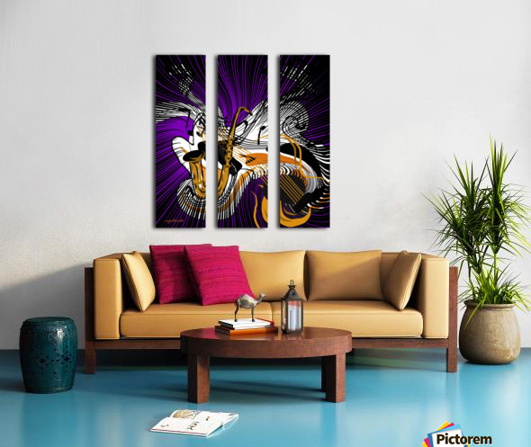 jazz vibes Split Canvas print