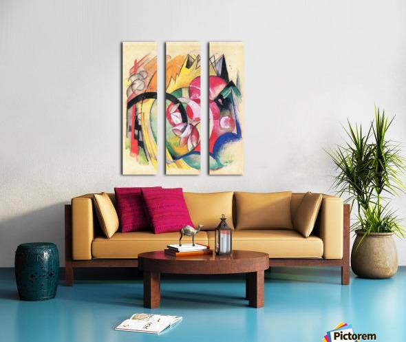 Colored flowers by Franz Marc Split Canvas print