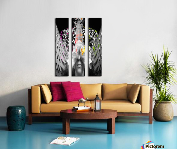 Rockefeller Center & Source Split Canvas print