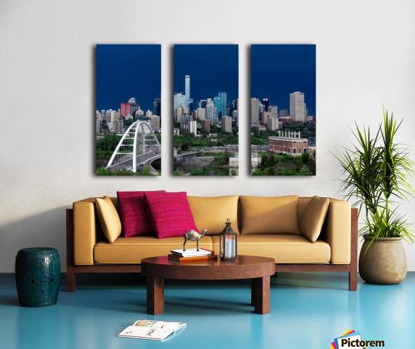 Edmonton Skyline & Thunderstorm... Split Canvas print