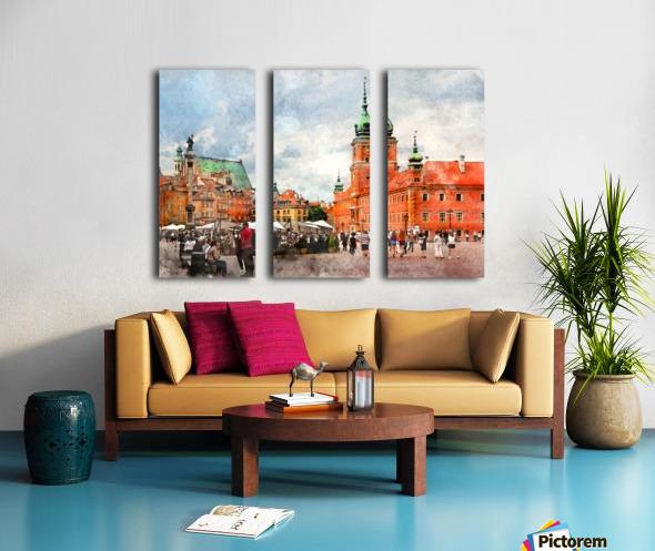 Warsaw city art Split Canvas print