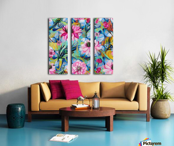 Colorful Floral Abstract  Split Canvas print