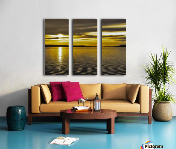 Powell River Sunset  Split Canvas print
