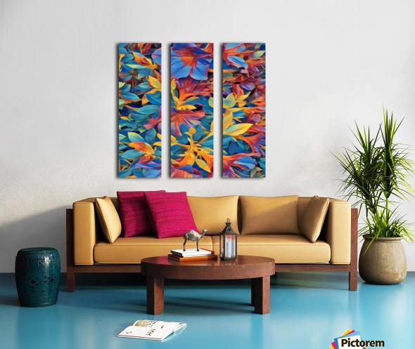 Abstract Garden Split Canvas print