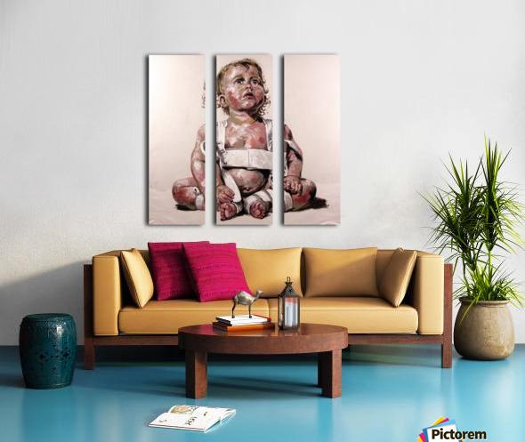 Harnais Split Canvas print